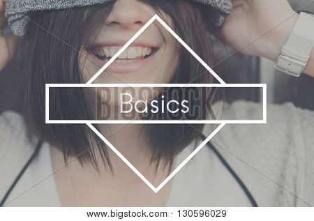 Basics Clean Minimal Minimalist Normal Simplicity Concept