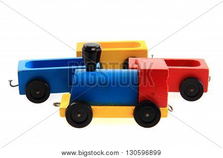 Old Wooden Train Toy