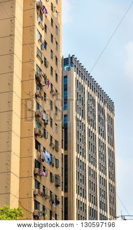 Residential buildings in Shanghai, the most populous city in China