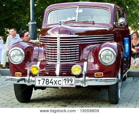 Dark Red Opel Kapit�n 1939 On Exhibition Parking