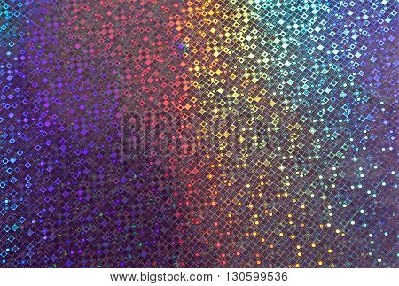 Shimmering Panel With Colors Of The Rainbow Glow