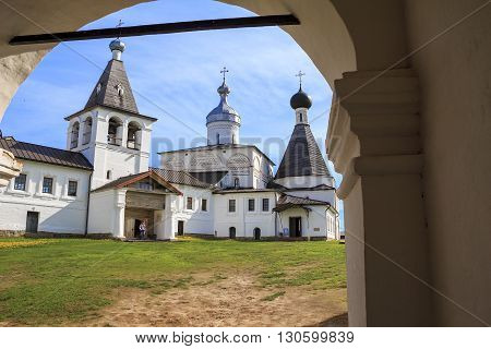 Ferapontovo, Russia - May 28: This is former Ferapontov Belozersky Nativity monastery built in the 15th century and inscribed on the World Heritage list of UNESCO May 28, 2013 in 120 km from Vologda, Russia.
