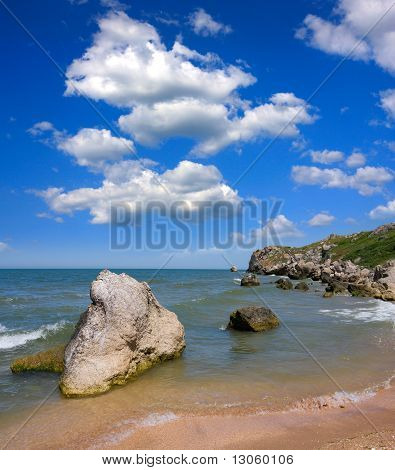 Nice Summer Landscape On Sea