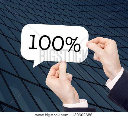 100% written in a speechbubble