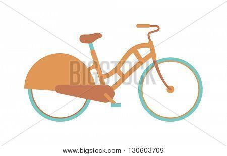 Stylish womens bicycle isolated on white background