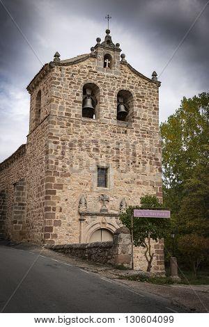 San Pedro parish church in Anguita, Guadalajara, Spain
