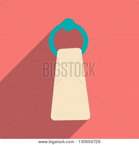 Flat with shadow icon and mobile application towel