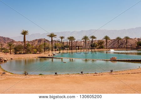 The Timna lake in Timna National park near to Eilat Israel