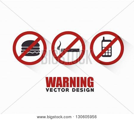 prohibition signs design, vector illustration eps10 graphic