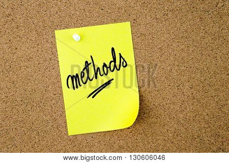 Methods Written On Yellow Paper Note