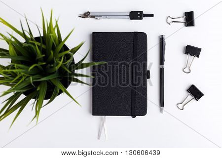 Leather Notepad, Plants And Pegs