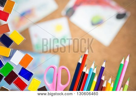 Drawing Tools And Scissors