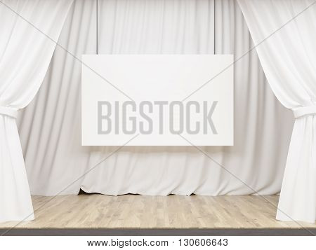 White Stage With Billboard