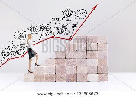 Businesswoman Starting Career