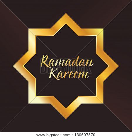 Vector stock of islamic Ramadan Kareem with star shape ornaments background
