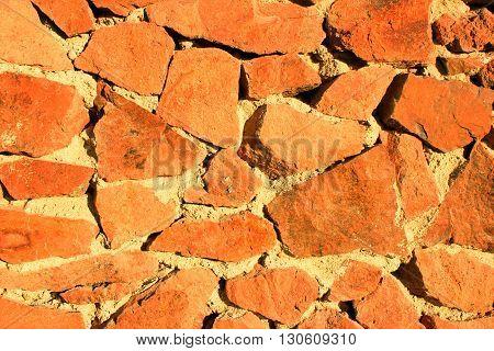 Stone Background at Sun Light. Stone Texture.