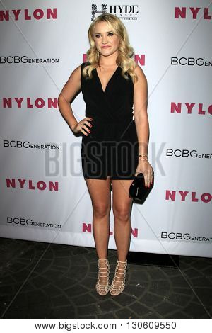 LOS ANGELES - MAY 12:  Emily Osment at the NYLON Young Hollywood May Issue Event at HYDE Sunset on May 12, 2016 in Los Angeles, CA
