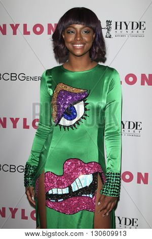 LOS ANGELES - MAY 12:  Justine Skye at the NYLON Young Hollywood May Issue Event at HYDE Sunset on May 12, 2016 in Los Angeles, CA