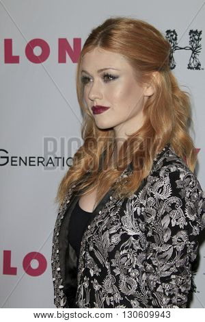 LOS ANGELES - MAY 12:  Katherine McNamara at the NYLON Young Hollywood May Issue Event at HYDE Sunset on May 12, 2016 in Los Angeles, CA