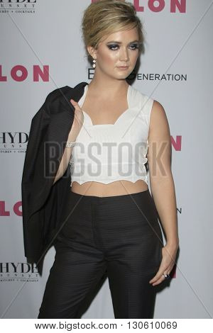 LOS ANGELES - MAY 12:  Billie Lourd at the NYLON Young Hollywood May Issue Event at HYDE Sunset on May 12, 2016 in Los Angeles, CA