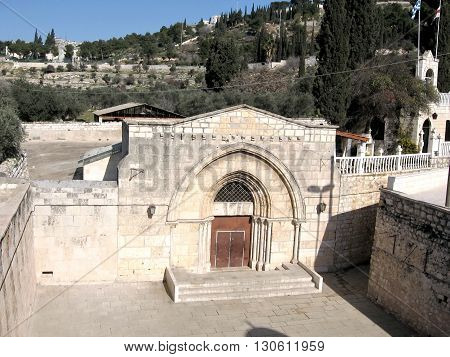 The church of Virgin Mary's tomb in Jerusalem Israel