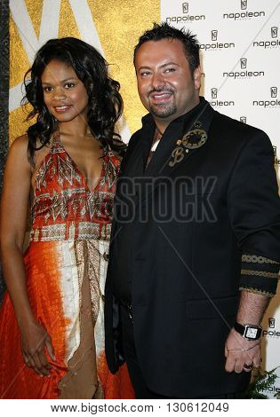 Kimberly Elise and Napoleon Perdis at the Napoleon Perdis Hollywood Store Unveiling  held at the Napoleon Perdis in Hollywood, USA on May 1, 2007.