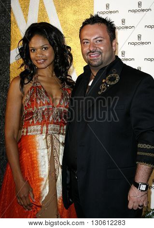Napoleon Perdis and Kimberly Elise at the Napoleon Perdis Hollywood Store Unveiling  held at the Napoleon Perdis in Hollywood, USA on May 1, 2007.