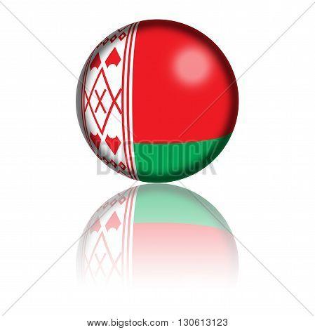 Belarus Flag Sphere 3D Rendering