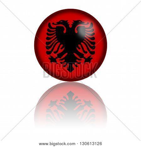 Albania Flag Sphere 3D Rendering