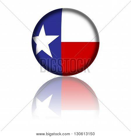 Texas Flag Sphere 3D Rendering