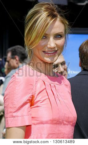 Cameron Diaz at the Los Angeles premiere of 'Shrek 3' held at the Mann Village Theater in Westwood, USA on May 6, 2007.
