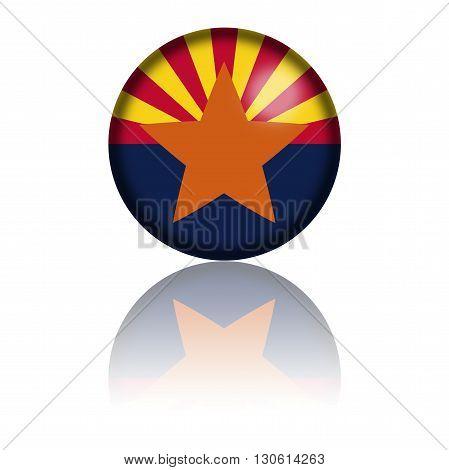 Arizona Flag Sphere 3D Rendering
