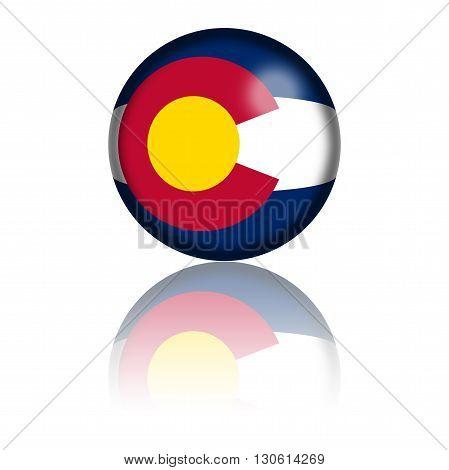 Colorado Flag Sphere 3D Rendering