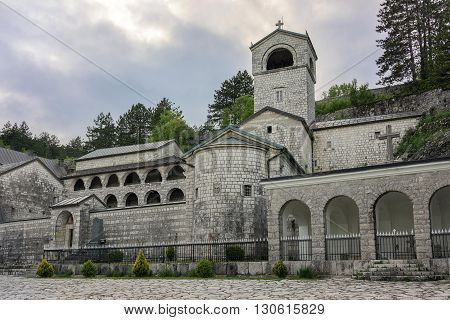 Ancient Monastery Of The Nativity Of The Blessed Virgin Mary In Cetinje, Popular Touristic Spot In M