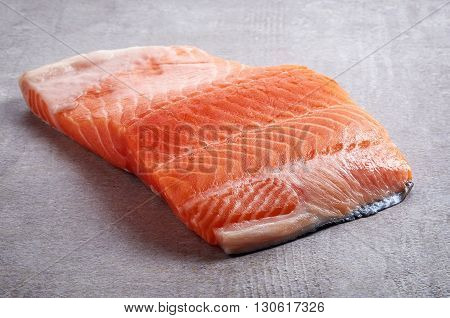 Fresh Raw Red Salmon Fillet