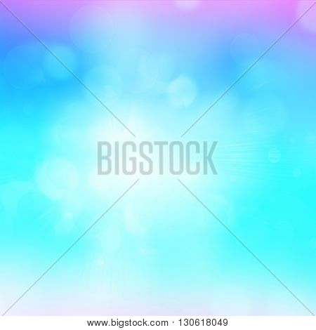 Blue green purple and pink abstract background light blur