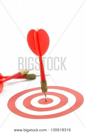 Red Dart On Target