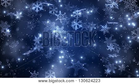 Composition Of Snowflakes And Frost.