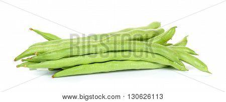 Green Kidney Bean On White Background