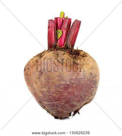 Fresh Beetroot Isolated On The White Background