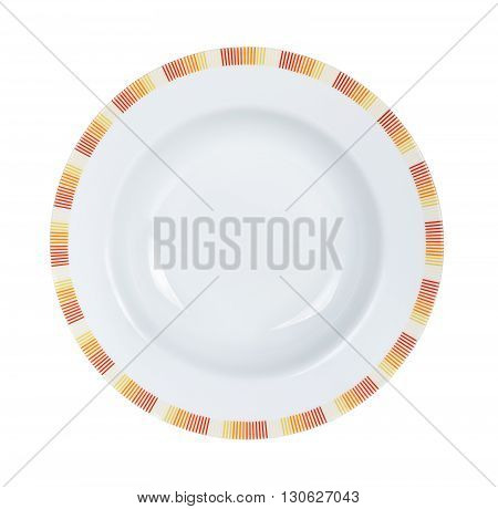 Circle White Plate Isolated