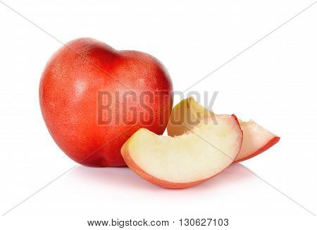 Nectarine Fruit Isolated On The White Background