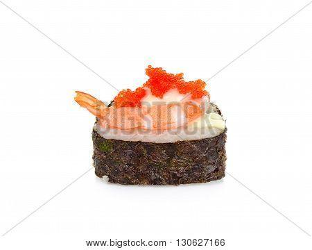 Sushi With Shrimp Isolated