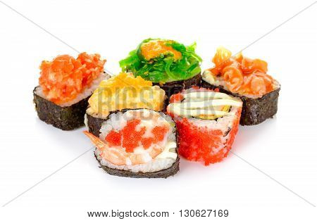 Sushi Isolated On The White Background
