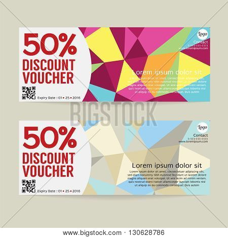 50 Percent Discount Voucher Template Vector Illustration. EPS 10
