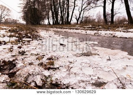 Fabulous winter landscape. Beautiful nature. Active otdy x in nature.