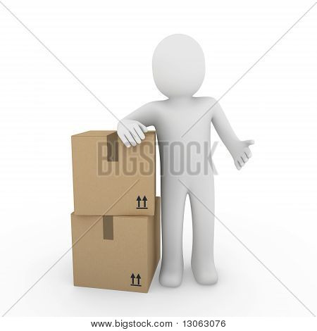 3D Human Shipping Package