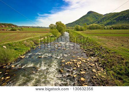 River Bednja in Zagorje valley northern Croatia