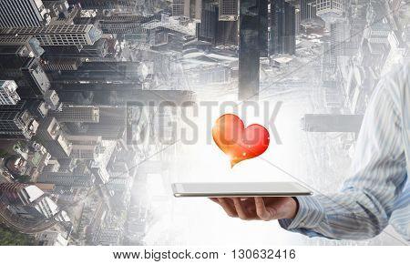 Online romantic chat