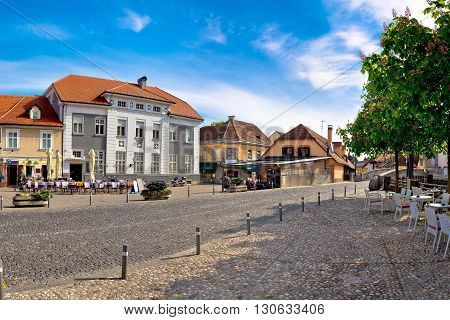 Town of Samobor square view northern Croatia